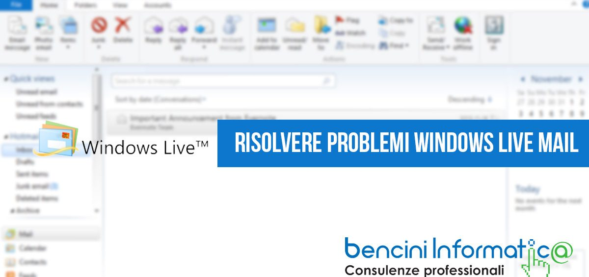 Windows mail non funziona: Risolvere problemi posta Windows Live Mail